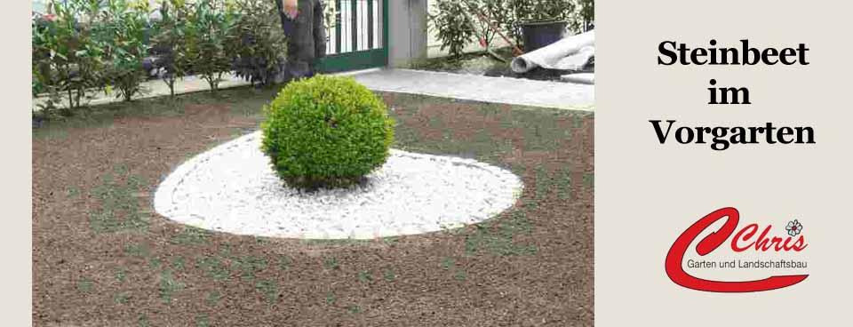 Steinbeet im Vorgarten